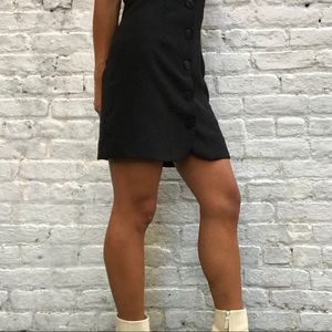 Cooperative Dresses - UO Cooperative 90s Black Vivi Button Down Dress